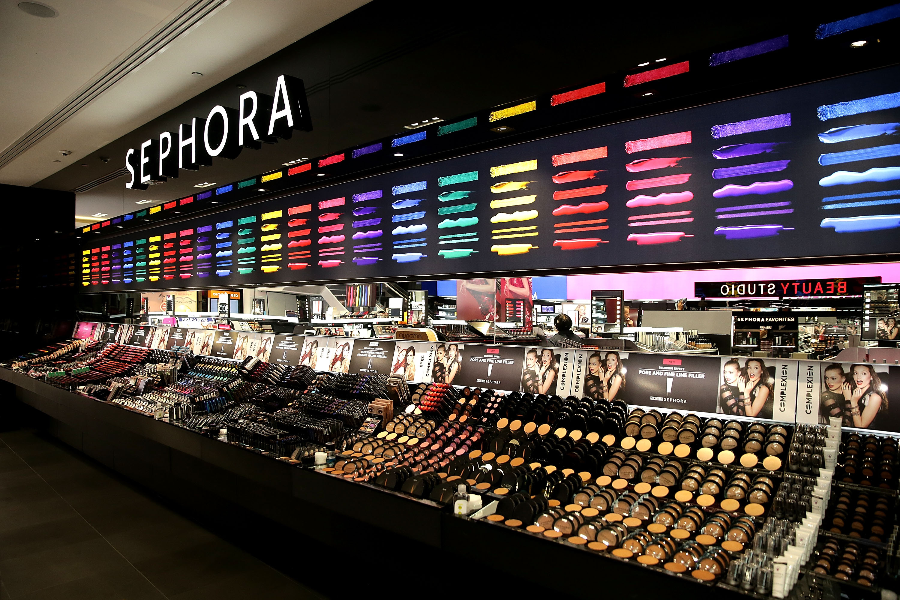 Crowds Queue For The Opening Of Sydney's First Sephora Store