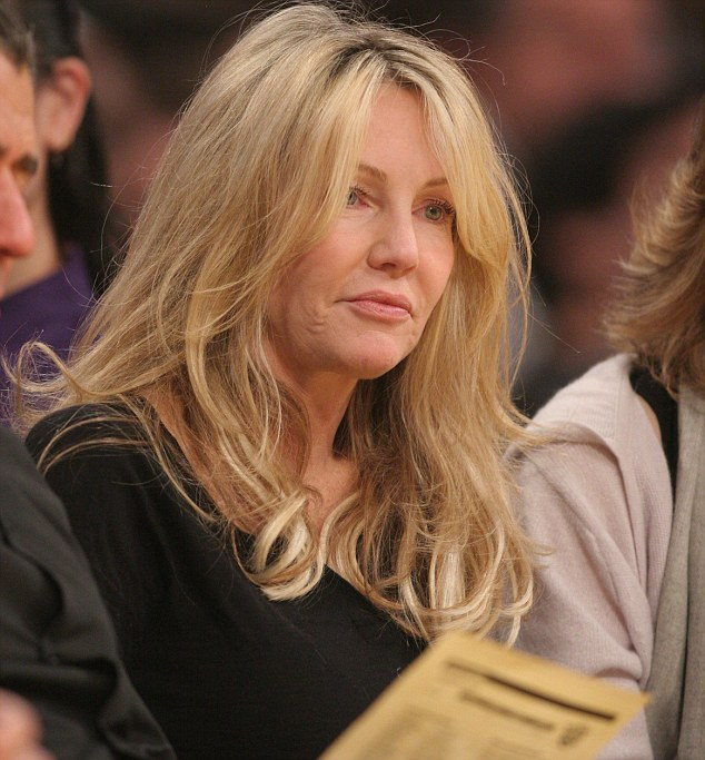 Heather Locklear at the Lakers game.